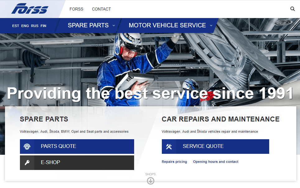fors auto spre parts