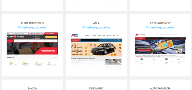 portofoliu magazine online piese auto create pe platforma web-autoresource